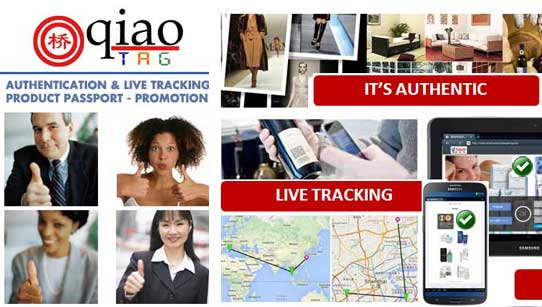 QIAO TAG AUTHENTICITY LIVE TRACKING PROMO-SALES