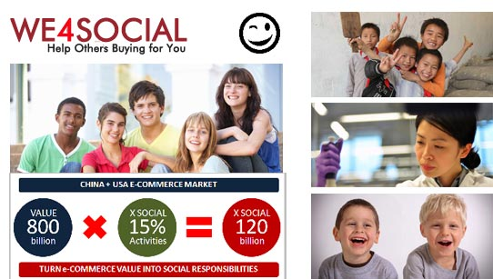 WE4SOCIAL - WHEN e-COMMERCE GIVES BACK VALUE TO SOCIETY